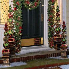 Christmas Ornament Ball Finial Topiaries