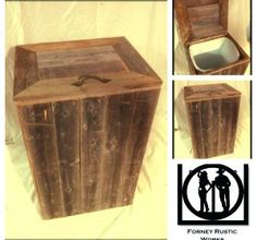 Reclaimed Wood Trash Can Laundry Basket Messaged Forney Rustic Works On Fb For Quote