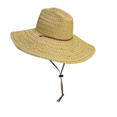 Sun City - Natural Rough Braid Raffia Lifeguard Wide Brim Hat 7ff57a5d9ee3
