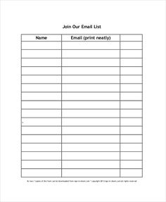 sign up sheet template 7 free download for word pdf sample