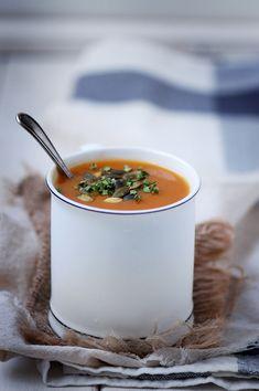 Madame Gateau -Soupe de courge et carottes épicée
