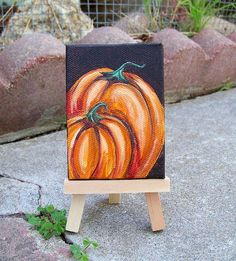 Paintings of Pumpkins On Canvas | Found on etsy.com