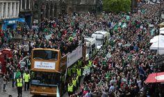 Hibernian parade through Edinburgh after winning the Scottish Cup. (2016)