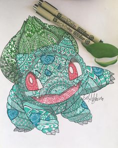 finished ☘#pokemongo #pokemon #bulbasuar #bulbasur #green #mandala #mandalatattoo #artistsoninstagram #art #artwork #artist #art❤️ #artmandala #wip #penonpaper