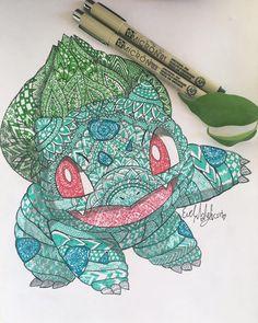 finished ☘#pokemongo #pokemon #bulbasuar #bulbasur #green #mandala #mandalatattoo #artistsoninstagram #art #artwork #artist #art❤️ #artmandala #wip #penonpaper