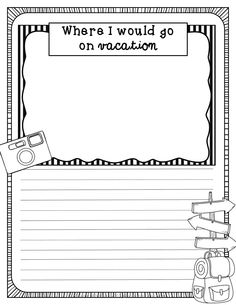Summer Journal Prompts! Watch kiddos come up with fun, adorable, creative writing.