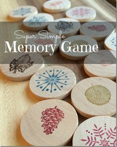 DIY Memory Game Gift - what a great handmade stocking stuffer this would make!! :-)