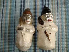Antique Snowman Ornaments Lot of 2. Free Ship