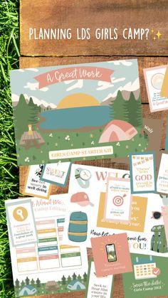 Secret Sister Gifts, Girls Camp, I Love Girls, Starter Kit, Lds, Hand Lettering, Camping, How To Plan, Reading