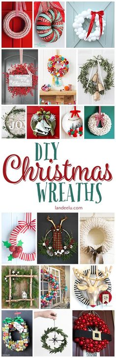 A collection of the best DIY Christmas wreaths out there! Beautiful wreaths to inspire you to get crafty this Christmas. Lots of different styles too!