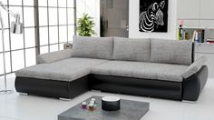 Couchgarnitur Sofa mit Schlaffunktion KARMA Ecksofa Sofagarnitur Wohnlandschaft