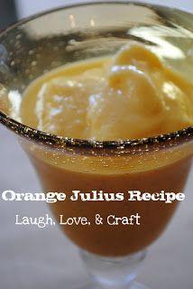 Laugh, Love, and Craft: Manic Monday Recipe~ Orange Julius