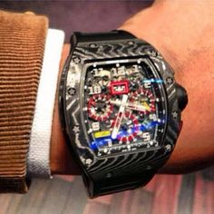 Richard Mille Stylish Watches, Luxury Watches, Cool Watches, Watches For Men, Dream Watches, Men's Watches, Tourbillon Watch, Mens Toys, Richard Mille