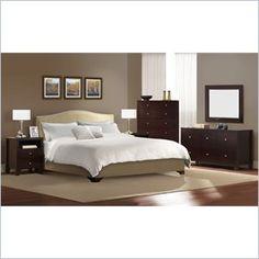 Lifestyle Solutions Magnolia Platform Bed 4 Piece Bedroom Set 1549