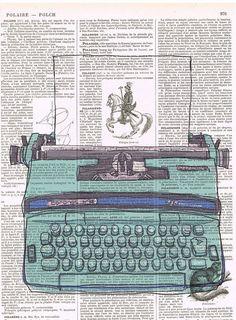 Siempre me han encantado las viejas máquinas de escribir y hoy comparto estas imágenes vintage de maquinas de escribir sobre el fondo de un ...