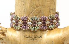 SUPERDUO DIAMONDUO REVERIE Bracelet-Boho Bracelet-Chic-Bohemian-Olivine-Amethyst-Beaded Bracelet-Rose Gold-(DR30D) by CinfulBeadCreations on Etsy