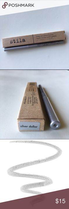 Stila Silver Dollar Smudge Stick Eyeliner NIB Stila Smudge Stick Waterproof Eyeliner in Silver Dollar. Rare, discontinued silver color. Full size. Brand new, unused, in box. Fast shipping! Stila Makeup Eyeliner
