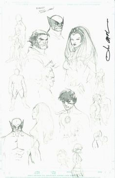 Bocetos de Olivier Coipel