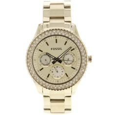 Fossil Women's ES3101 Stainless Steel Analog Gold Dial Watch Fossil. $85.66. Scratch resistant mineral. Case diameter: 28 mm. Stainless steel case. Quartz movement. Water-resistant to 50 M (165 feet)  - Click pics for a better price <3
