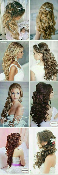 Hair styles/Mariage/coiffure/Wave/ bouclé