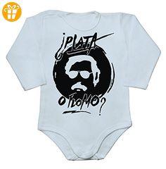 Pablo Escobar PLATA O PLOMO? Baby Long Sleeve Romper Bodysuit XX-Large - Baby bodys baby einteiler baby stampler (*Partner-Link)