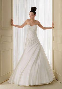 trendy sweetheart Organza criss cross bodice Zipper Back Wedding Dress