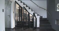 Bespoke wine cabinet under staircase - Tervuren 2016, by Degré 12