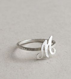 Script Initial Ring | Jewelry Rings | Mitsymoto Designs | Scoutmob Shoppe | Product Detail