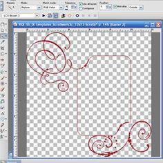 Scrap Girls University - Digital Scrapbooking Tutorial - ScrapSimple Digital Layout Templates - Layered: Scrollwork Tutorial for Paint Shop Pro