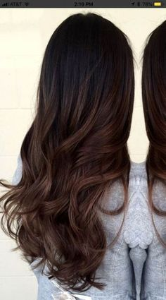 ideas for hair ideas for brunettes ombre highlights - Hair Rebecca Brown Hair Balayage, Brown Ombre Hair, Hair Color For Black Hair, Ombre Hair Color, Cool Hair Color, Hair Highlights, Hair Color For Morena, Chocolate Ombre Hair, Black Hair With Brown Highlights
