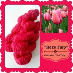 Roze Tulp - Dutch Flowers | Red Riding Hood Yarns On October 3rd, Pink Tulips, Red Riding Hood, Yarns, Pink Purple, Holland, Dutch, Raspberry, Initials