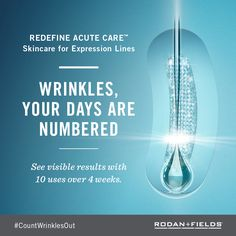 Rodan + Fields - Acute Care for Expression Lines - put the needle away and enjoy a pain free way to get rid of those wrinkles - go ahead, express yourself!