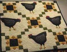 My chicken quilt I made that was in my moms quilt shop...can't believe I found a pic of it on here!