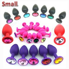48 Colors Silicone Anal Sex Toys For Women & Men, Erotic Butt Plugs + Crystal Jewelry, Adult Booty Beads Anus Products,Anal Tube Adult Games, Gift List, Crystal Jewelry, Shapes, Beads, Gifts, Chandeliers, Style, Fashion
