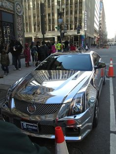 Behold! The platinum Cadillac CTS-V COUPE...Obama's Car! #inaugurationday