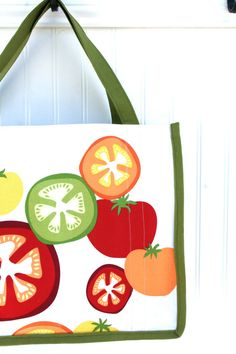Farmers Market Bag/Shopping Bag  Heirloom Tomatoes by JiggetyPig, #teamupcyclers