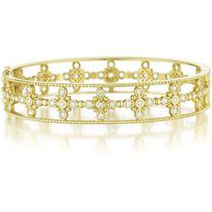 Penny Preville 18k Gold Diamond Bangle Bracelet ($4,746) ❤ liked on Polyvore