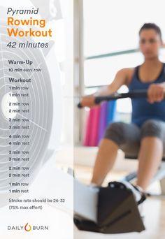 Rowing Machine Workouts: Pyramid Power