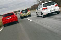 Weniger geht kaum: Audi A3 1.6 TDI, Volvo C30 1.6D DRIVe und VW Golf 1.6 TDI BlueMotion sollen 3,8 Liter Diesel reichen – heißt 99 Gramm CO2 pro Kilometer. Versprechen sie damit nur das Blaue vom Himmel?