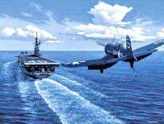 Carrier landing F4U Corsair