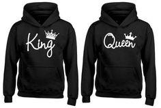 SUR VENTE roi et la Reine hoodies - correspondance-couple-Pulls Sweats à capuche