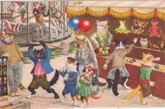 Alfred Mainzer Anthropomorphic Cat Postcard no 4680 Kunzli Zurich Switzerland in Colecionáveis, Cartões postais, Animais | eBay