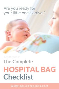 Our comprehensive hospital bag checklist includes essentials and nice-to-haves f. Our comprehensive hospital bag checklist includes essentials and nice-to-haves for baby, mom, and dad. Labor Hospital Bag, Hospital Bag For Mom To Be, Hospital Bag Checklist, Hospital Birth, Pregnancy Health, First Pregnancy, Pregnancy Tips, Mom And Baby, Baby Love