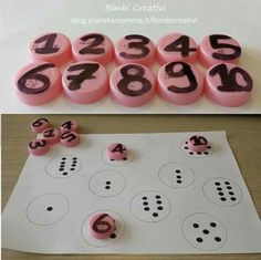 Creative people are curious, f Numbers Preschool, Learning Numbers, Preschool Learning, Kindergarten Math, Montessori Activities, Educational Activities, Toddler Activities, Preschool Activities, Math For Kids