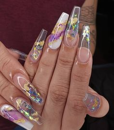 In seek out some nail designs and ideas for your nails? Here's our list of 18 must-try coffin acrylic nails for trendy women. Cute Acrylic Nail Designs, Best Acrylic Nails, Perfect Nails, Gorgeous Nails, Glam Nails, My Nails, Glitter Nails, Fire Nails, Nagel Gel