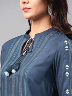 Best 12 Shop W blue color kurti for festive wear online from India. Brand – W, Product code – Price – Color – Blue, Fabric – Cotton, Salwar Designs, Silk Kurti Designs, Kurta Designs Women, Kurti Designs Party Wear, Neck Designs For Suits, Neckline Designs, Designs For Dresses, Dress Neck Designs, Chudithar Neck Designs