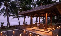 Honeymooners can enjoy  a romantic candle-lit dinner by the ocean   The Legian Bali   Romantic Luxury Hotel   The Legian Bali   GHM Hotels