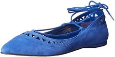 Nine West Womens Stargazer Ballet Flat Blue Suede 9 M US ** Learn more by visiting the image link. Note:It is Affiliate Link to Amazon.