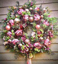 These Elegant Christmas Wreaths Are What You Need For Your Front Door in 2020 Silk Flower Wreaths, Silk Flowers, Floral Wreath, Xmas Wreaths, Christmas Decorations, Holiday Decor, Elegant Christmas, Summer Wreath, Diy Crafts