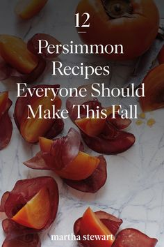 The persimmon is an underrated fall fruit that deserves the same hype as pumpkins. Here's what you need to know about choosing and storing them plus our favorite persimmon recipes. Fruit Recipes, Fall Recipes, Healthy Recipes, Recipies, Persimmon Recipes, Fall Fruits, Savoury Dishes, Yummy Snacks, Baked Goods